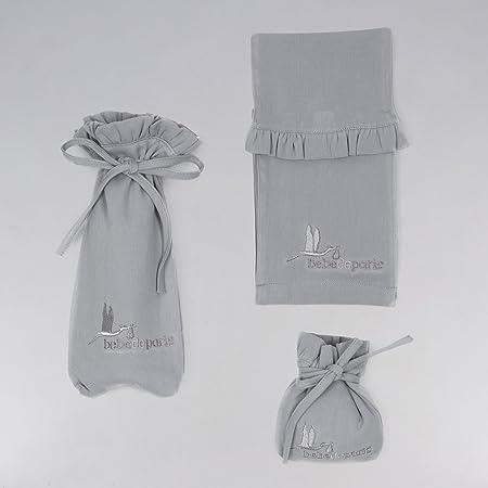 set regalo reci/én nacido Canastilla regalo beb/é en Caja Vintage Cl/ásica Plena con Oso BebeDeParis-Rosa