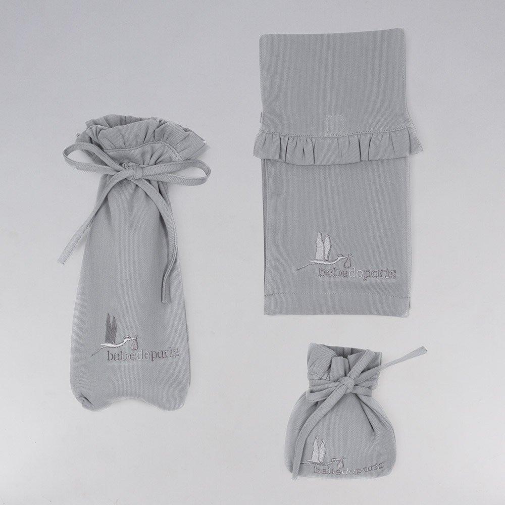28ca2eb707179 Ensemble de draperie berceau et accessoires hôpital pour le bébé Beaux Rêves  de BebeDeParis en gris- cadeau bébé-cadeau de naissance  Amazon.fr  Bébés    ...