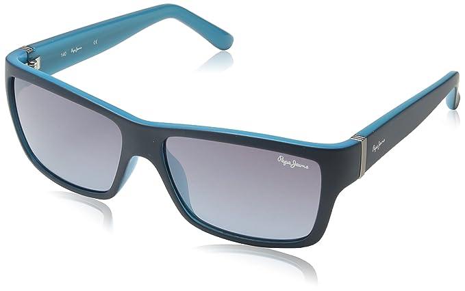 Pepe Jeans - Gafas de sol Rectangulares PJ7184 C3 Aron, Blue ...