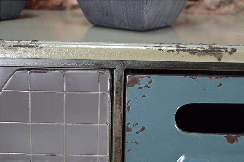 Livitat/® Wandregal Wandboard mit Sch/üben Metall Retro Vintage 93x19x19 cm Industrie Look Loft Living LV5030 Metall