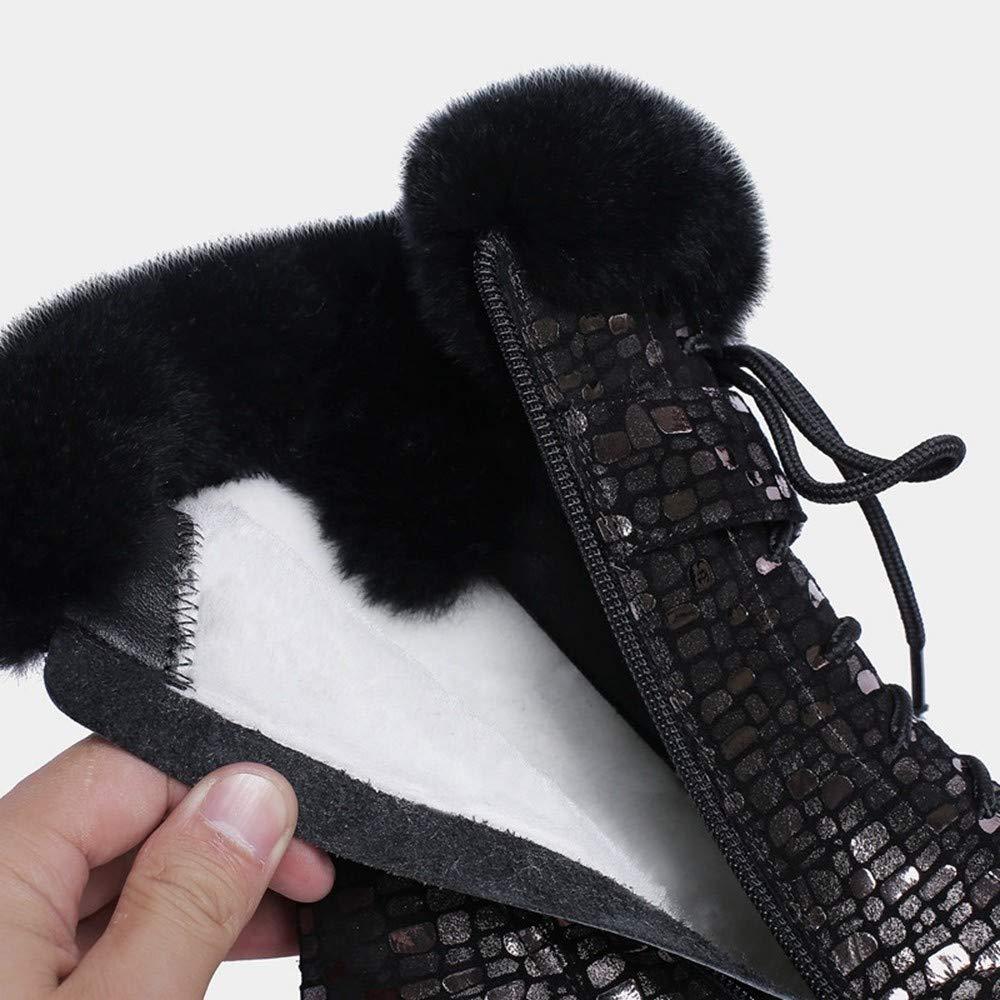 XPFXPFX Motion Motion Motion Freizeit Mode Trend Outdoor Winter Warme Schneeschuhe Schnüren Ankle Stiefel Für Frauen Flache Plateauschuhe 87511b