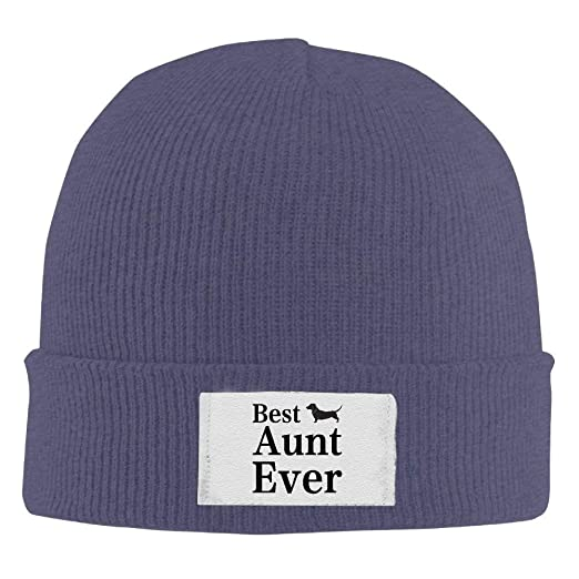 6812dee43cd6db Image Unavailable. Image not available for. Color: Winter Knitting Wool  Warm Hat Daily Hats Best Dog Aunt Ever Woolen Caps Navy