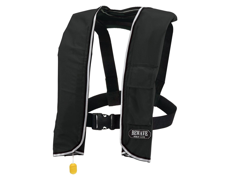 手動膨張式 ライフジャケット 肩掛式 オーシャンLG-3型 MI ブラック 国交省認定品 タイプA 検定品 桜マーク付   B0764VBMSR