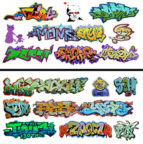 (HO Scale Graffiti Waterslide Decals 2-Pack #10 - Weather Your Box Cars, Hoppers, & Gondolas!)
