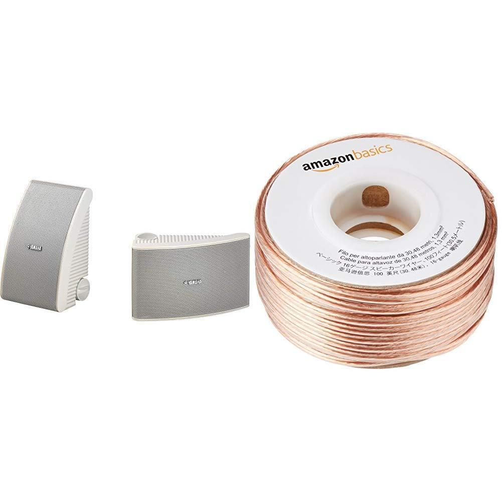 Ns-aw392 Blanco Altavoces Exterior Pareja /& Basics Calibre 16, 2x1,3 mm/², 30,4 m Yamaha NSAW392 Cable para Altavoces