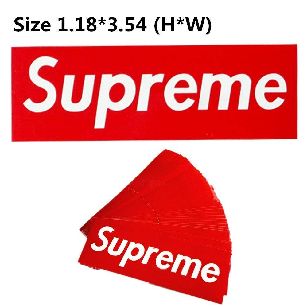 Supreme Stickers 100 Pieces Pack Waterproof and Oil Proof OEM Style for Decoration of Smart Phone, Laptop, Backpack Skateboarding, Cars, Laggages etc (Red, 100 pieces) by  (Image #5)