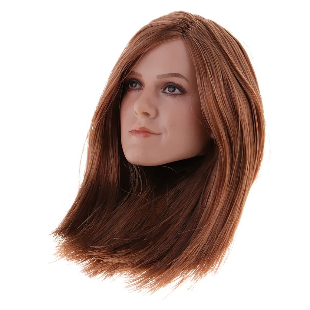European Hair Head Carved Actionfigur 1//6 Frauenakt Körper /& Kopf Sculpt