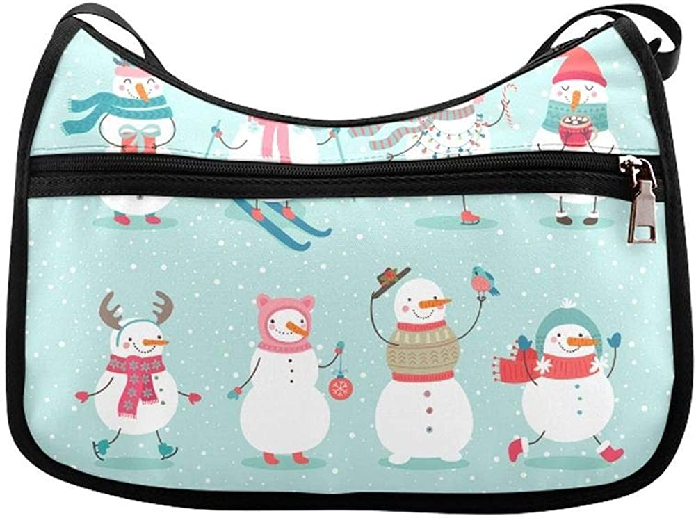 Extreme Excitement Snowboarding Messenger Bag Crossbody Bag Large Durable Shoulder School Or Business Bag Oxford Fabric For Mens Womens
