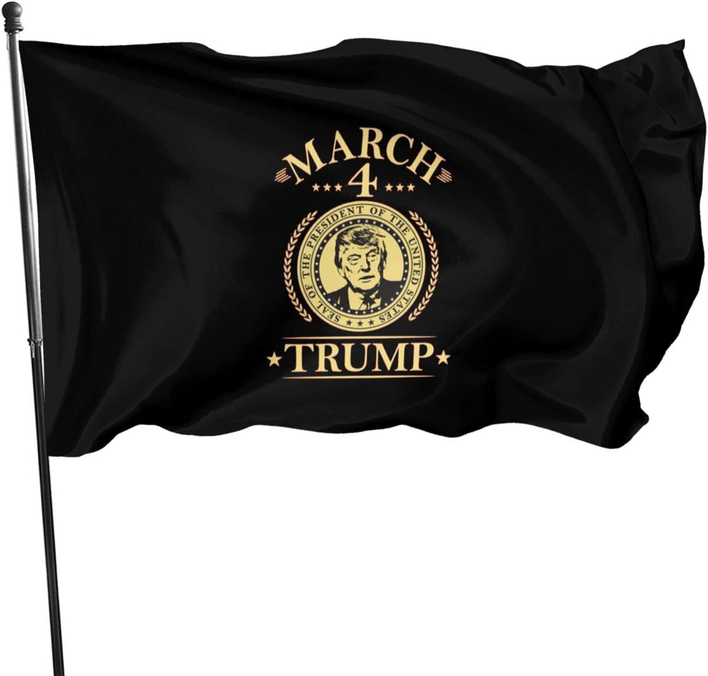 Opplsh Hdrejn March 4 Trump Home Balcony Garden Flag Decoration Stylish Single Side Printing
