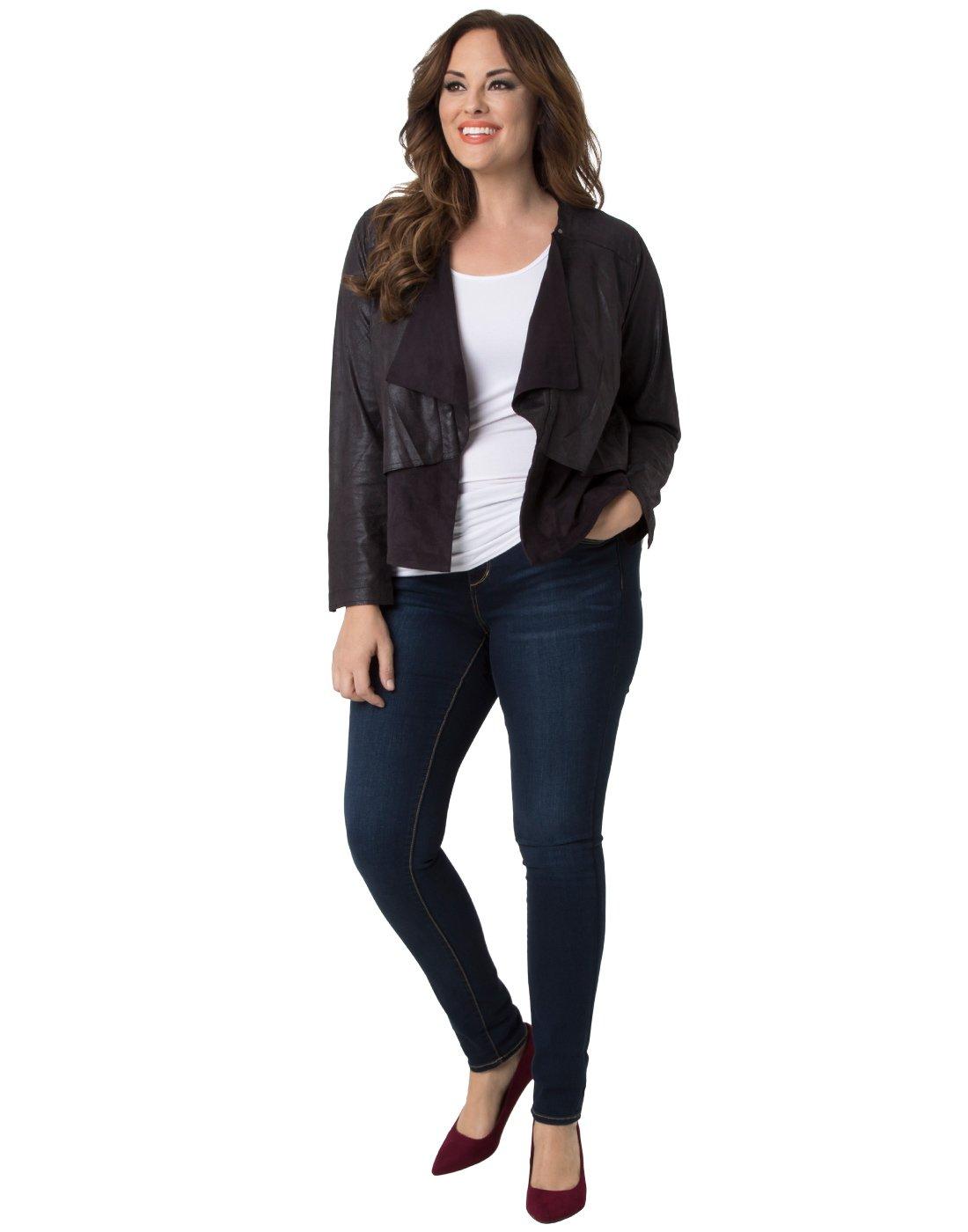 Kiyonna Clothing Women's Plus Size Mesa by Lysse 1X Black