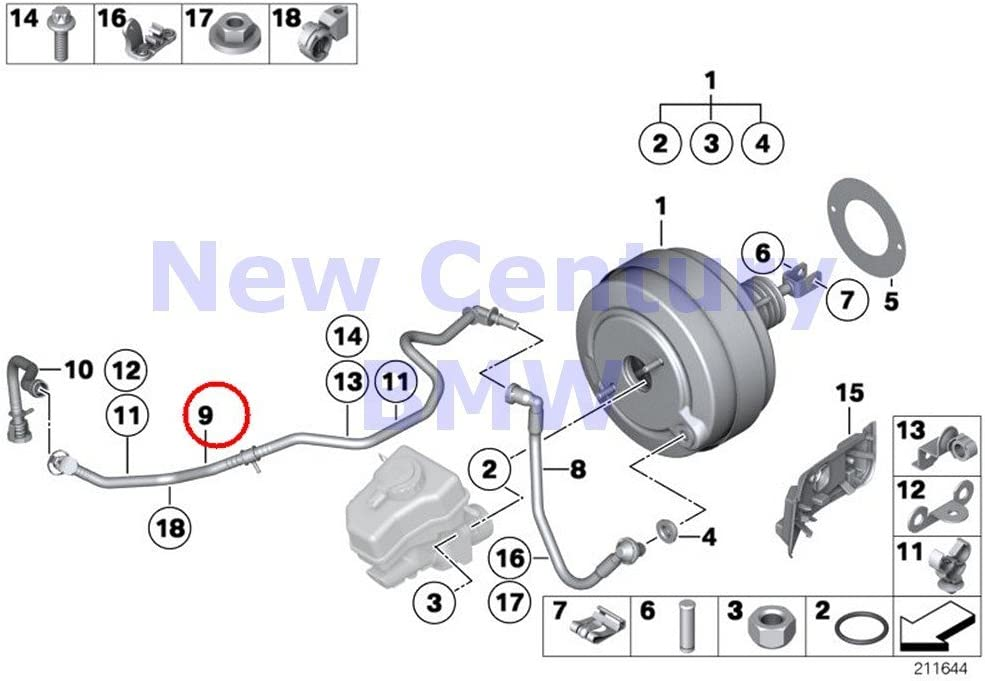 BMW Genuine Reservoir To Wastegate Turbocharger Vacuum Line Cylinders 1-3 Front 135i M Coup/é 135i Z4 35i Z4 35is 335i 335xi 335i 335xi 335i 335xi 335is 335i 335is