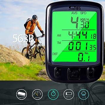 ARCELI SD-563C Computadora de Bicicleta inalámbrica LCD Luz de ...