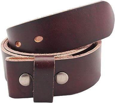 Full Grain Top Leather Belt Women Men Unisex Size 36 38 40 42 44 MAT BROWN SALE