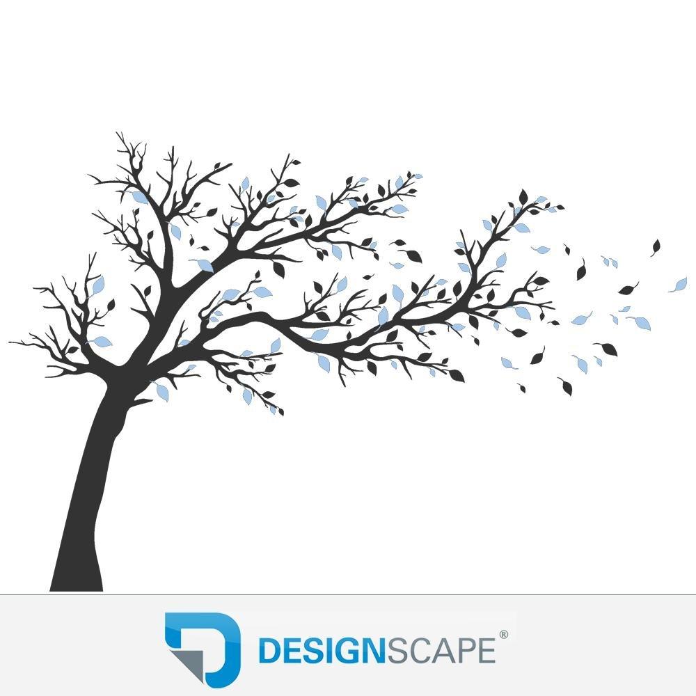 DESIGNSCAPE® Wandtattoo Wandtattoo Wandtattoo Großer Baum zweifarbig - Baum Wandtattoo mit zweifarbigen Blättern 267 x 160 cm (Breite x Höhe) Farbe 1  hellgrau DW804144-S-F22 d00421