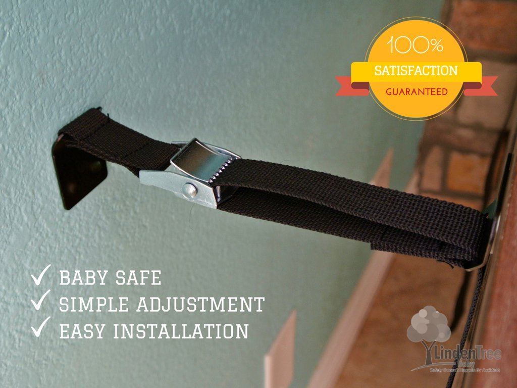 SUPER VALUE PACK Multi-Purpose Anti Tip TV Strap. All Metal Parts. Easy Install by PEROZEK (Image #2)