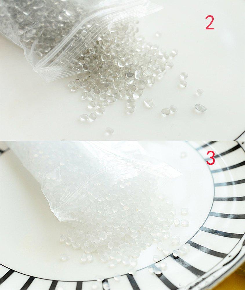 Perlas de Pecera para crujientes Slime, 10,5 onzas claro jarrón relleno cuentas, artes de perlas, DIY manualidades decorativas para casera Slime, ...