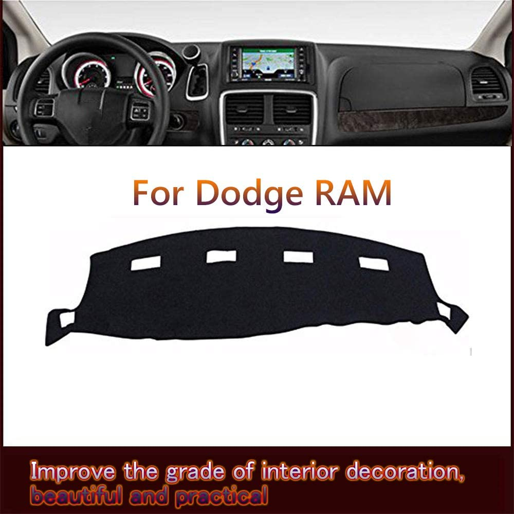 2002-2005 Great-luck High quality Dashboard Cover Mat Custom Fit Dashboard Protector Eliminates Cracking for Dodge RAM 1500 2500 3500 Dash Cover Easy Installation Reduces Glare
