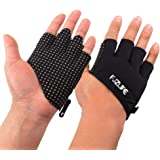 FJZLIFE Workout  Fitness Gloves for Cross Training, Weightlifting, Biking, Bodybuilding, Yoga, Pull-Ups and Fitness - Enhanced Silicone Grip Palm - Improve Your Fitness Without Hand Rips