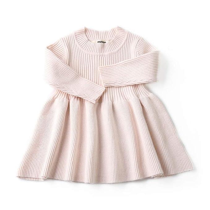 Wang-RX Vestidos de otoño Invierno para bebés recién Nacidos ...