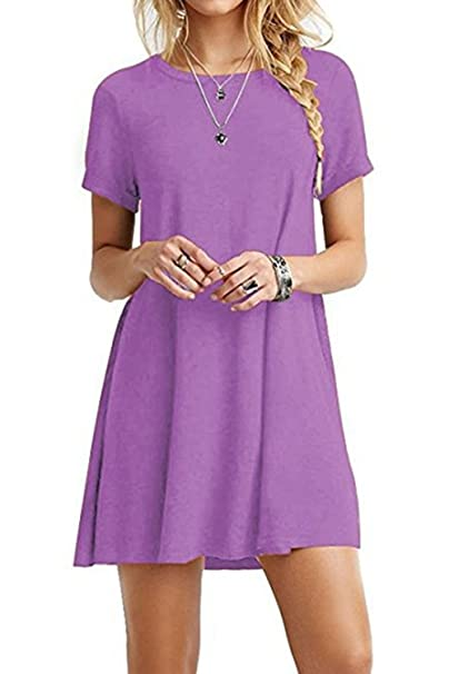 Image Unavailable. Image not available for. Color  Women Summer Dress  Casual Short Sleeve ... 41e60529a