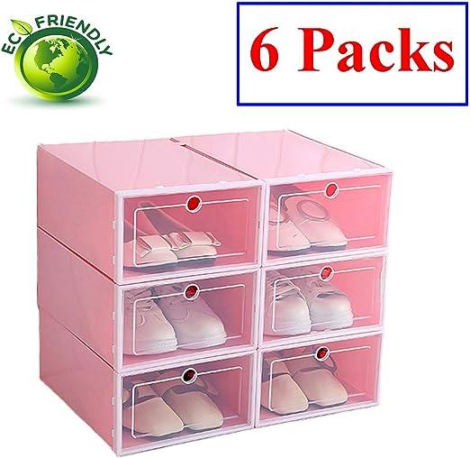 Hwalla Cajas para Zapatos de Plástico Transparente Apilables ...