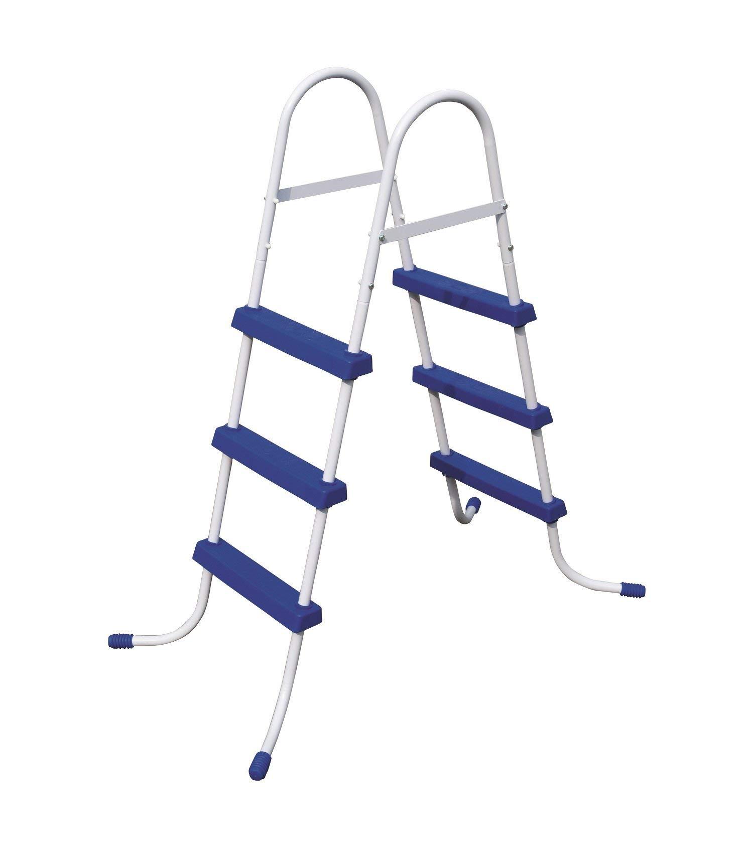 Bestway 58334E 58334 Pool Ladder, 36'', Blue (Renewed) by Bestway