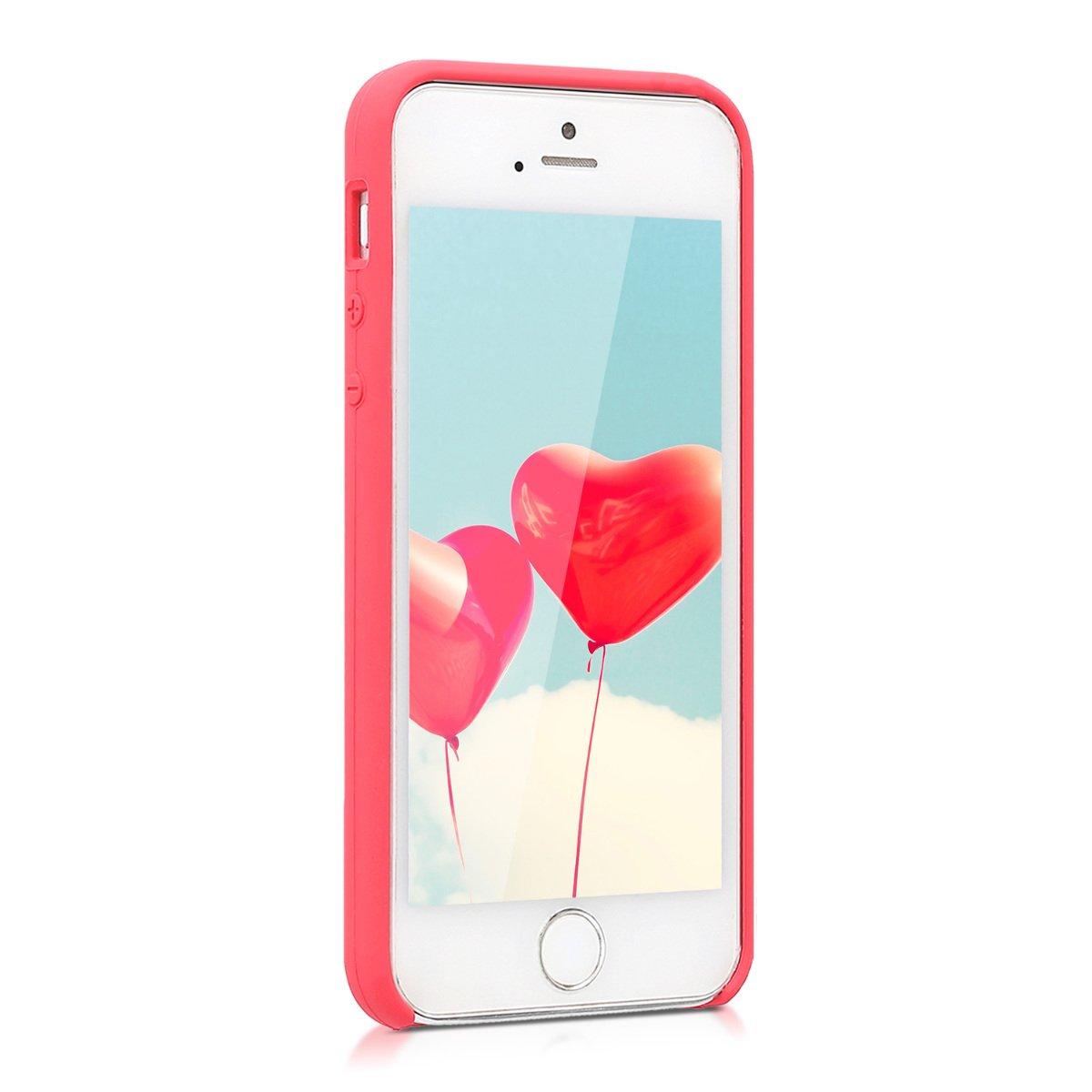 kwmobile Coque Apple iPhone Se 5S Housse de t/él/éphone en Silicone Bleu Marine 5S Coque pour Apple iPhone Se 5 5