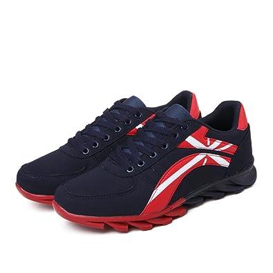 Hommes Chaussures PU Printemps Automne Confort Athlétique Chaussures Chaussures de Course à Lacets pour Athlétique Randonnée/Escalade Chaussures (Color : A, Taille : 39)