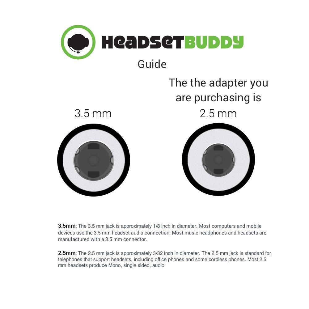 Headset Buddy Female RJ9/RJ22 to Male 2.5mm Headset Adapter (RJ9-PH25)