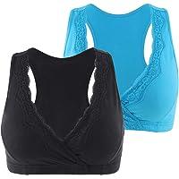 KUCI Maternity Nursing Sleep Bra Lace Breastfeeding Tank Wireless Bralette for Pregnancy