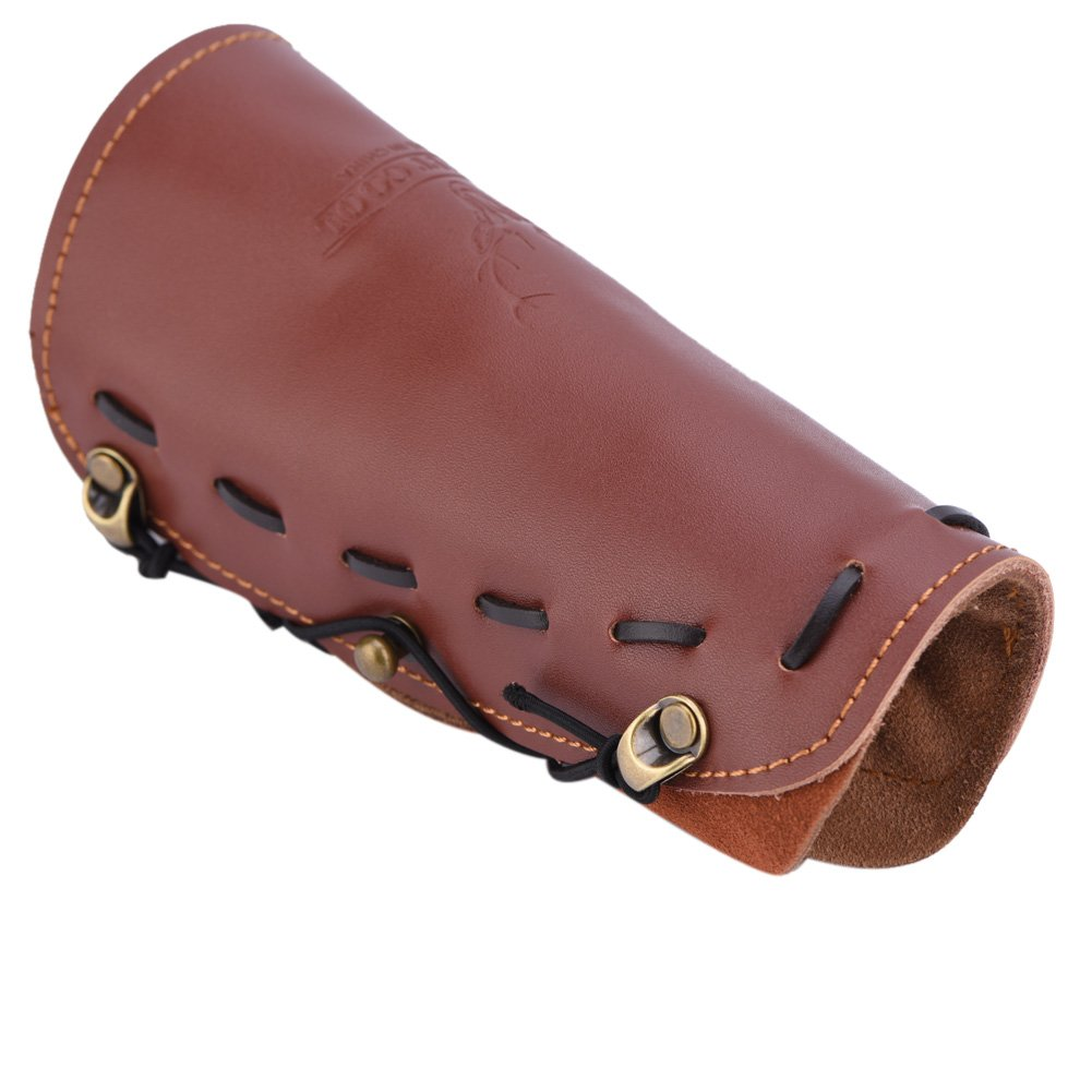 Archery Arm Protector Shooting Arrow Leather Arm Guard Protection Safe Strap Armband by Vbestlife (Image #2)