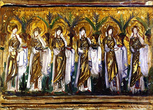 John Singer Sargent Mosaics in SantApollinare Nuovo 1898 Private Collection 30