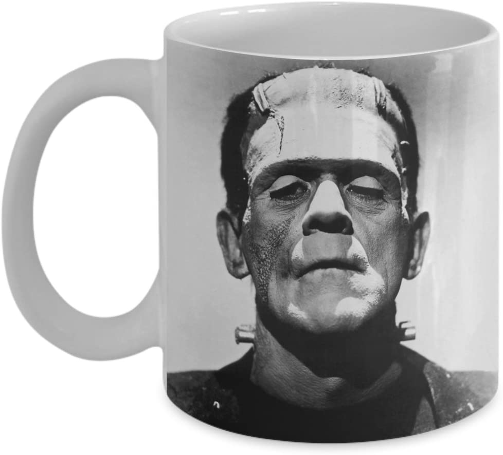 Van Halen Frankenstein Coffee Mug Ceramic Mug 11//15oz Cofee Mug Black-White
