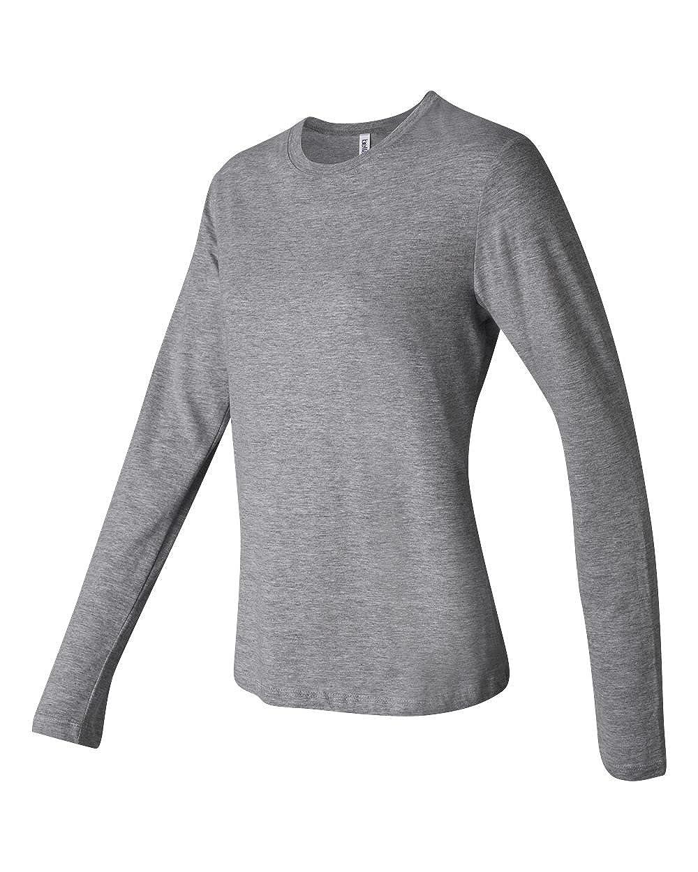 b7b991b01 Bella Women's Long Sleeve Crew Neck Jersey T-Shirt B6500 at Amazon Women's  Clothing store: