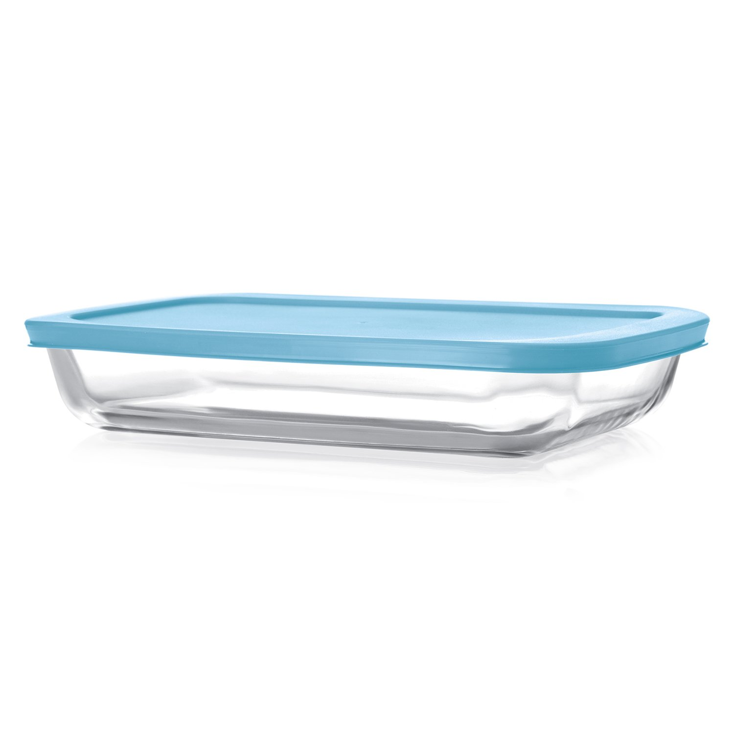 Cello Giacinta Rectangle Glass Baking Dish with Lid, 1.5 Litres/29.9cm, Clear