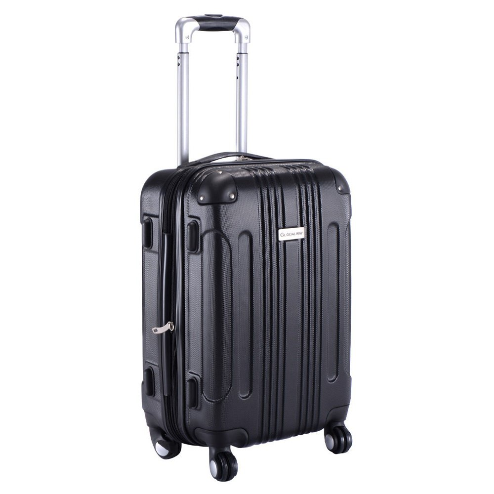ABS Travel Bag Black 20'' by Inter Wealthy Store