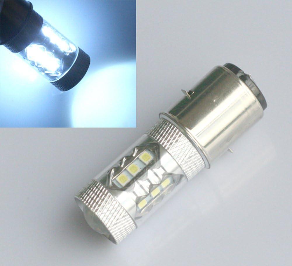 High Performance LED Light Bulb Xenon White BA20D H6/M 50/W for Moto ATV Motorcycle 395/CREE