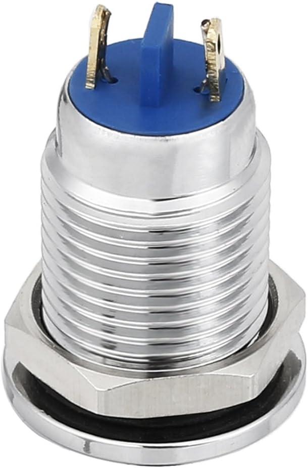 uxcell LED Indicator Light 12V 12mm White Metal Shell Pilot Custom Dash Signal Lamp Flat Head