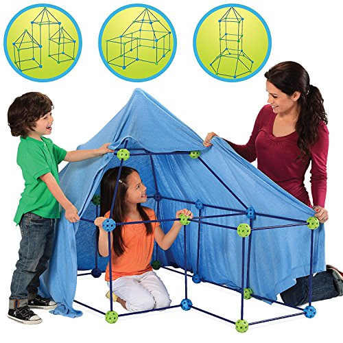Discovery Building (Discovery Kids Building Tent 77 Piece Construction Fort Kit for Kids, Indoor Build & Play Castle STEM Toy Set, Interactive, Educational, Inspirational, Creative Imagination Toys for Children 5 Years+)