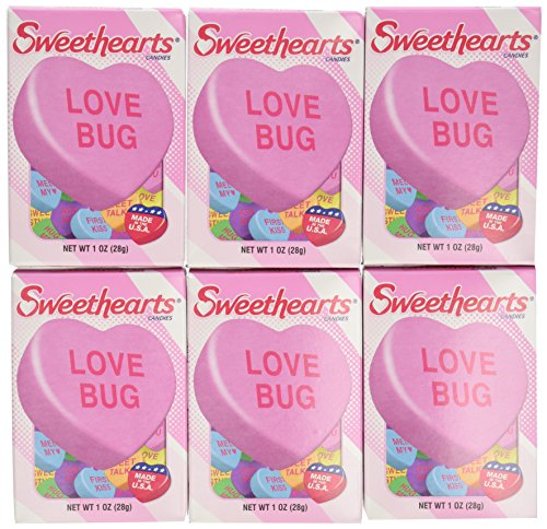 NECCO Sweethearts Conversation Hearts, 1 oz Boxes (Pack of 36)