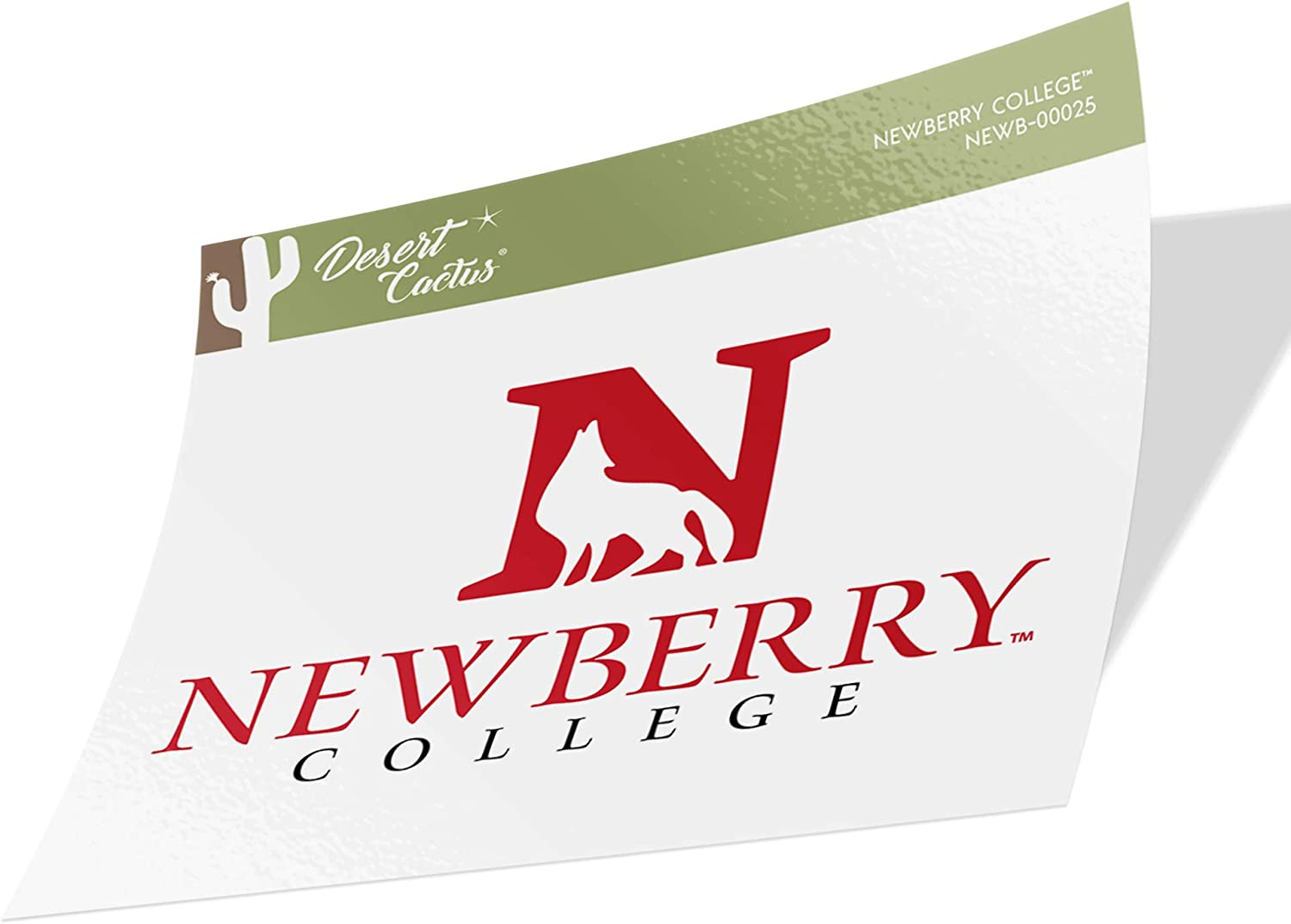 Newberry College Wolves NCAA Vinyl Decal Laptop Water Bottle Car Scrapbook (Sticker - 00025)