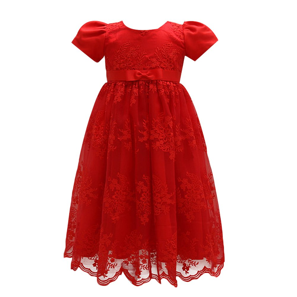OBEEII Christening Gowns for Baby Girls Baptism Long Dress Embroidery  Floral Lace Special Occasion Formal Dress for First Communion Birthay  Wedding Evening ... 655ba84a6