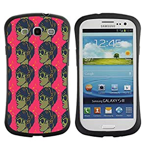 DesignCase Premium TPU / ABS Hybrid Back Case Cover Samsung Galaxy S3 III i9300 ( cool guy )