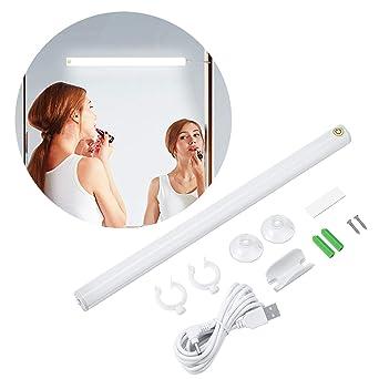 Kohree LED Spiegelleuchte USB Dimmbar Schminklict Make-up Licht  Spiegellampe Kosmetiklampe Tageslichtlampe LED Leiste Tageslichtweiß 6500k  6W für ...