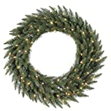 Vickerman Camdon Fir Wreath with 200 LED Warm White Light, 60-Inch