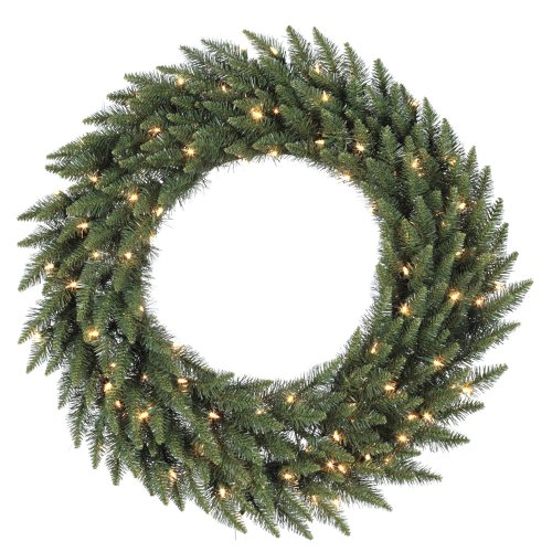 Vickerman Green Frosted Bellevue Alpine Artificial Christmas Wreath, Small by Vickerman
