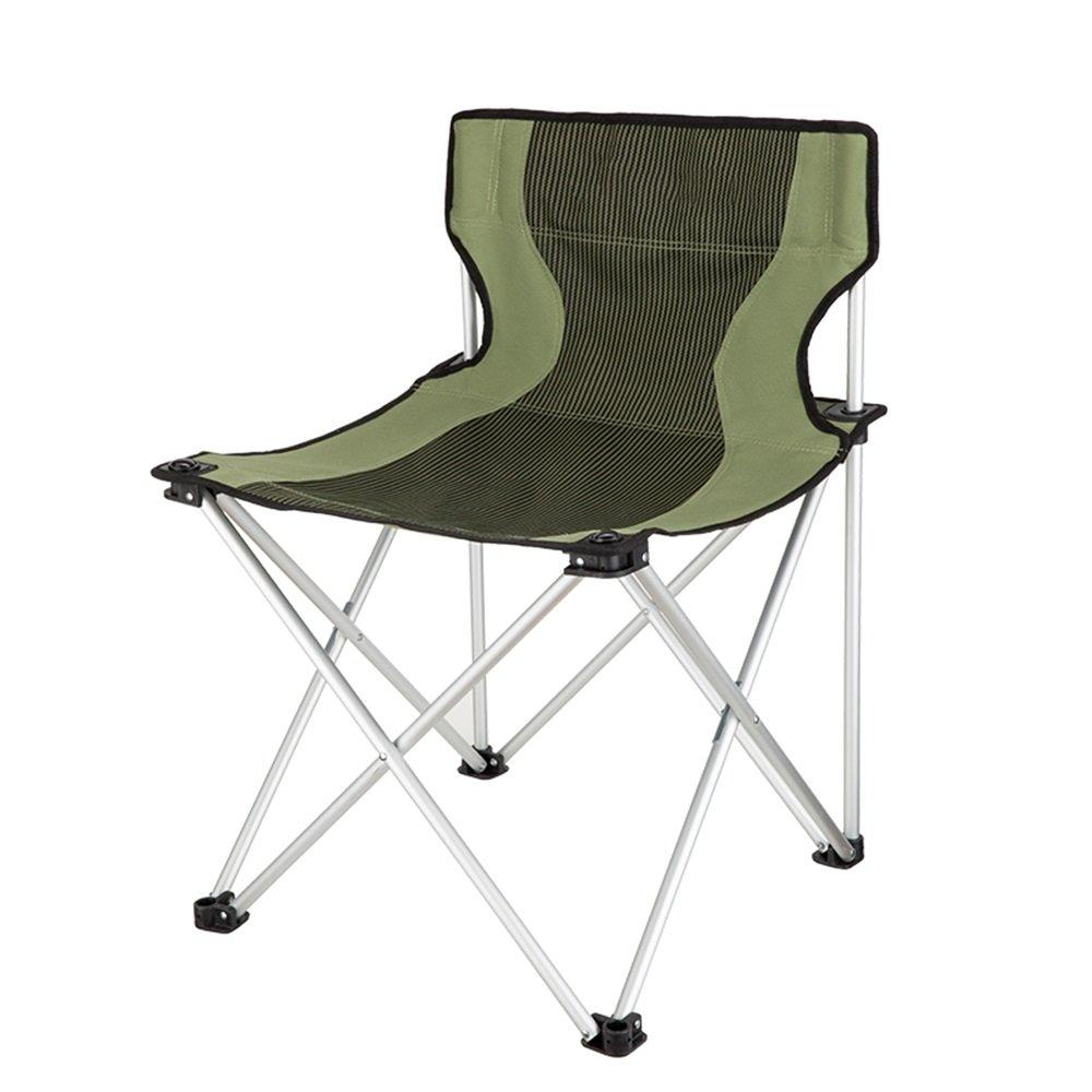GHM Campingstuhl Tragbare Klappstuhl-Aluminiumlegierung im Freien mit Armlehnen-bequemem Strand-Fischen-Camping-Stuhl