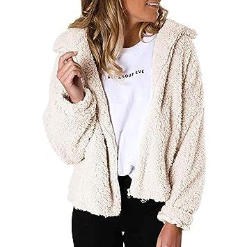 Lazapa Chaqueta de Punto para Mujer, suéter de Felpa Ultra Suave ...