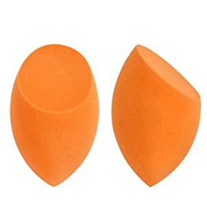 2 Pack Orange Sponges MakeUp Set With Revolutionary Foam Technology You Can Use Damp or Dry for a Smooth Finished Look,Flawless for Foundations, Liquid Creams and Powder