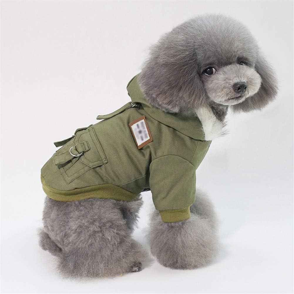 GODGETS Ropa para Perros Camiseta Abrigo de Cachorro Ropas Invierno Perro Caqui S